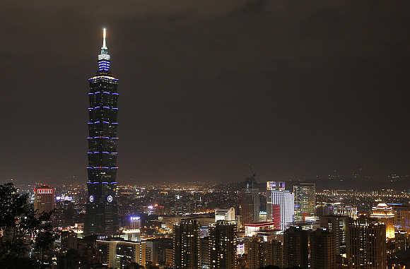 Taipei 101 building in Taiwan.