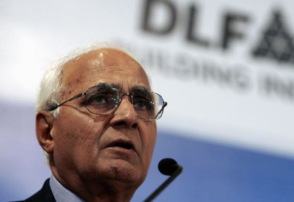 K.P. Singh, chairman, DLF. Many big real estate players have been eyeing land in Dehradun.