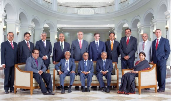 Infosys' earlier board of directors.