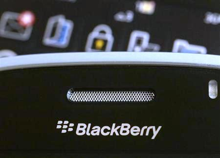 A Blackberry smartphone is displayed in this August 12, 2010 illustrative photo taken in Hong Kong.