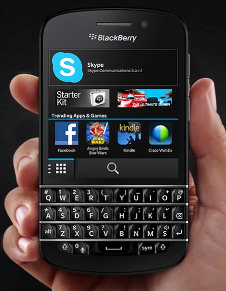 BlackBerry Q10.
