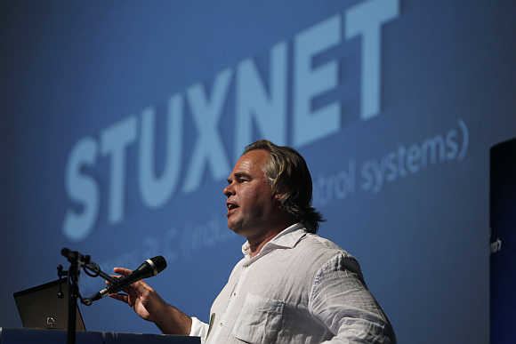 Eugene Kaspersky, Chairman and CEO of Kaspersky Labs, speaks at a Tel Aviv University cyber security conference. Kaspersky, whose lab discovered the Flame virus that has attacked computers in Iran and elsewhere in the Middle East, says only a global effort could stop a new era of 'cyber terrorism'.