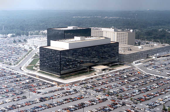 A view of the National Security Agency headquarters building in Fort Meade, Maryland.