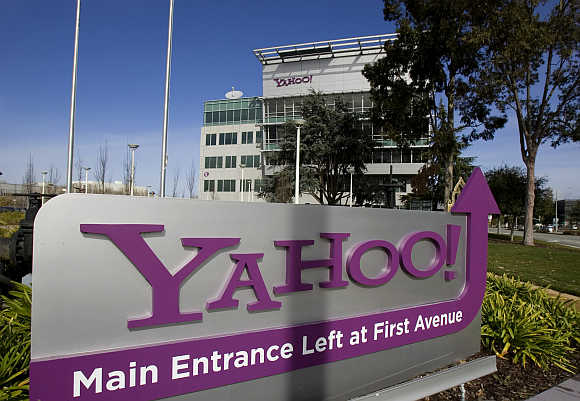 Yahoo! headquarters in Sunnyvale, California.