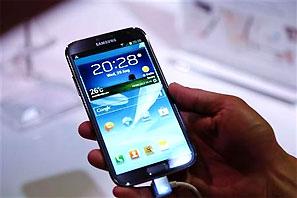 Galaxy phones power Samsung to record rofit. Photograph: Pawel Kopczynski/Reuters