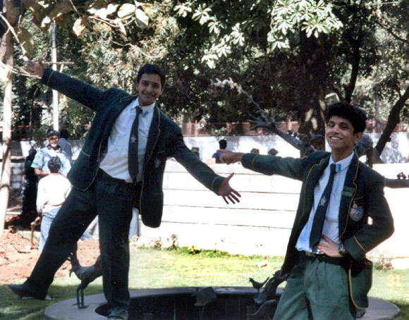 Rohan Murty (R) during his school days.