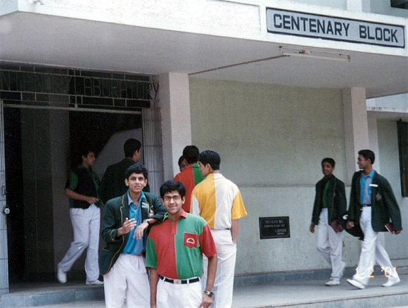 Rohan Murty (L) during his school days.