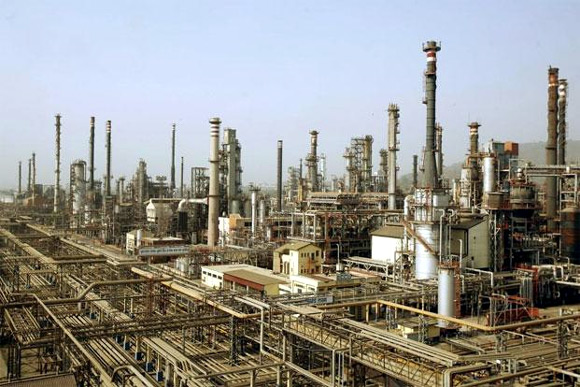 A view of Bharat Petroleum Corporation Ltd. Refinery in Mumbai.