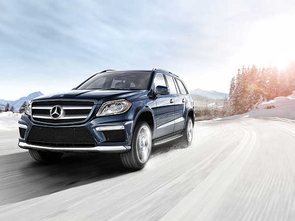 A view of Mercedes-Benz GL-Class SUV.