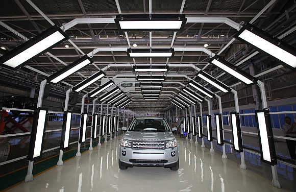 Jaguar Land Rover Freelander 2 at the company's production plant in Pune.