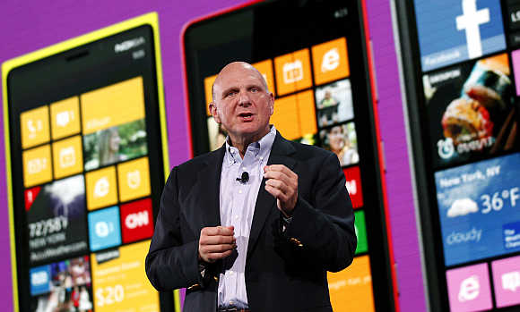 Microsoft CEO Steve Ballmer in San Francisco, California.