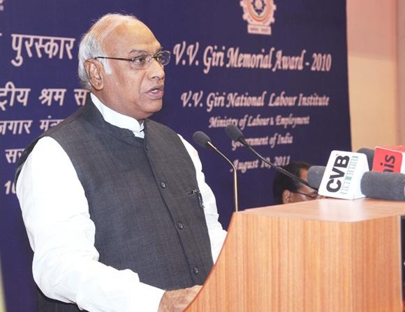 Railway Minister Mallikarjun Kharge.