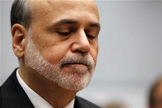 US Fed Chairman Ben Bernanke.