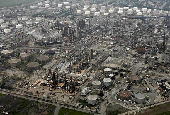 British Petroleum oil refinery as seen in Whiting, Indiana, United States. Photo is for representation purpose only.