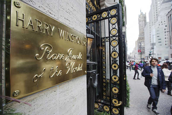 Harry Winston jewellery store on 5th Avenue in New York City.