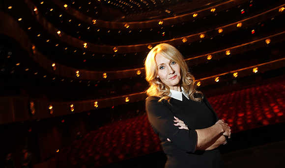 Author JK Rowling at Lincoln Center in New York City.