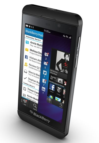 Blackberry Z10.