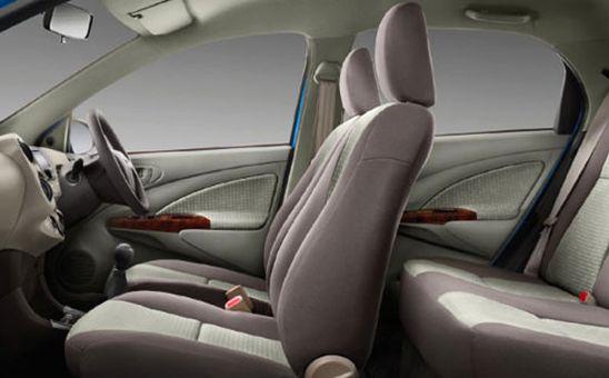 Interior of Toyota EtiosLiva Sportivo.