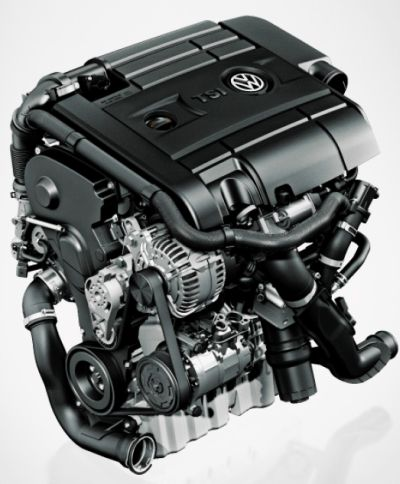 Volkswagen Polo GT TSI engine.