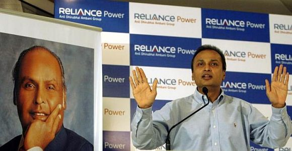 Anil Ambani, chairman of the Anil Dhirubhai Ambani group, speaks during a news conference.