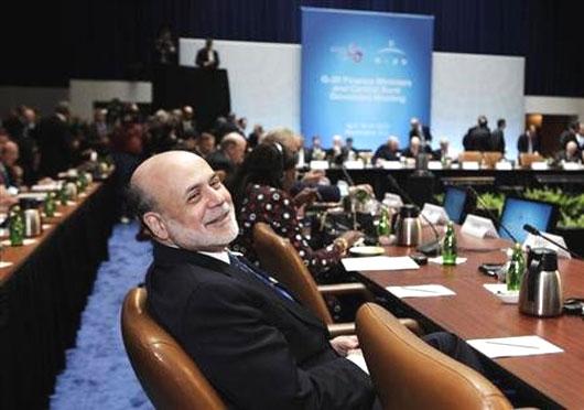 US Federal Reserve chairman Ben Bernanke.