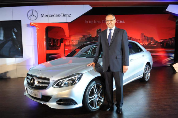 Eberhard Kern, MD & CEO Mercedez Benz India at the launch of new E Class.