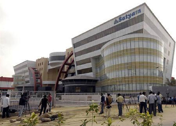 A file photo of the headquarters of Satyam Computer in Hyderabad.