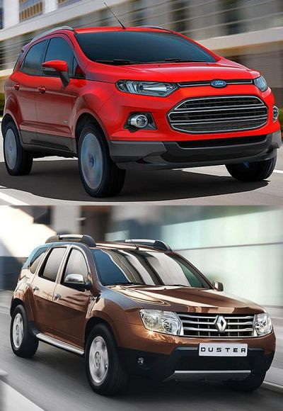 Ford EcoSport (above) and Renault Duster.