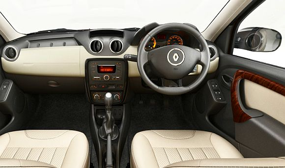 Interior of Renault Duster.