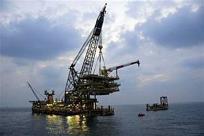 Offshore platform on a gas field