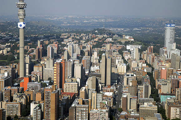 A view of Johannesburg in South Africa.