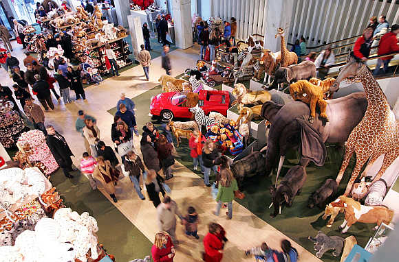 FAO Schwarz toy store in New York City.