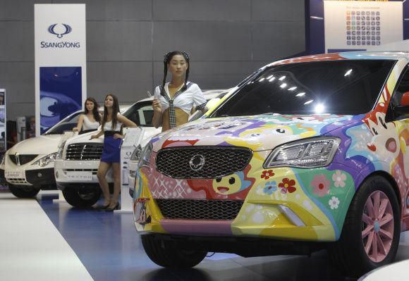 SsangYong Actyon during the Moscow International Motor Show.
