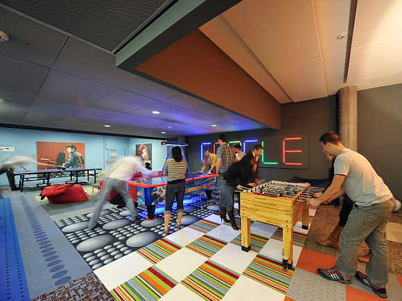 A view of Google's office in Zurich, Switzerland.
