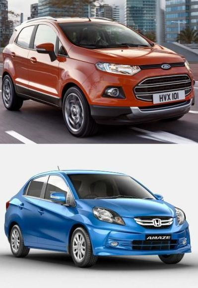 Ford EcoSport (above) and Honda Amaze.