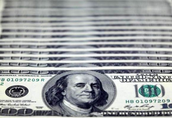 US dollar notes are seen in this picture illustration.