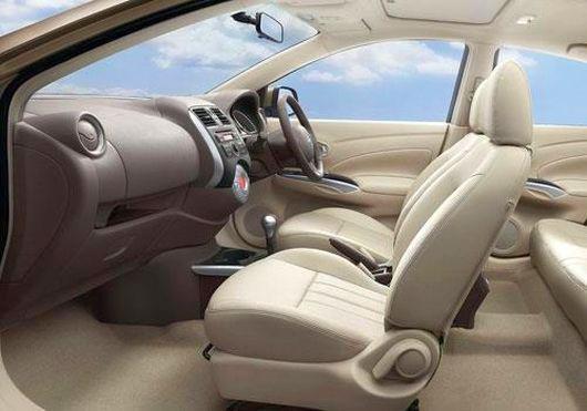 Interior of Nissan Sunny.