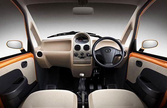 Interior of Tata Nano.