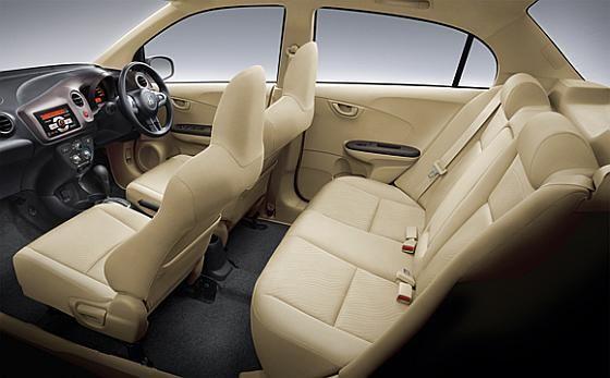 Interior of Honda Brio Amaze.