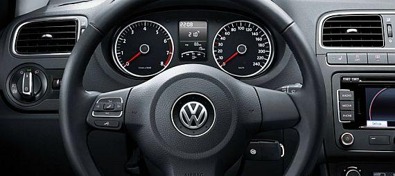 Interior of Volkswagen Polo.