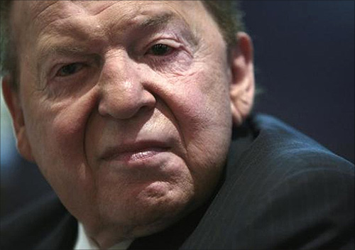 Chief Executive Officer of Las Vegas Sands Corp Sheldon Adelson.