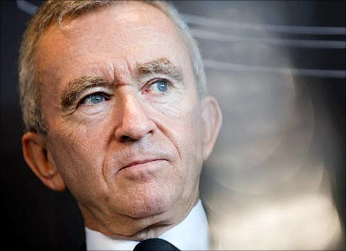 LVMH Moet Hennessy Louis Vuitton chairman and CEO Bernard Arnault.