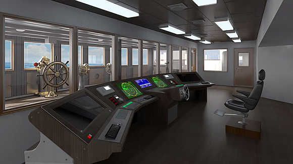 The bridge was the navigational control centre of the ship.