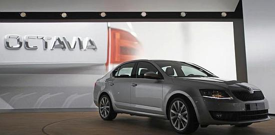 The new model of Skoda Octavia car is presented during a world premiere.
