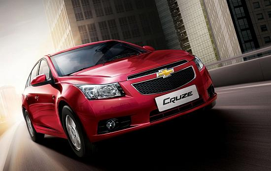 Chevrolet Cruze. New Skoda will compete with cars such as this and Toyota Corolla.