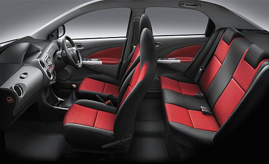 Interior of Toyota Etios.