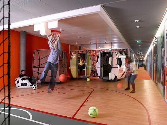 Google organises intramural sports.