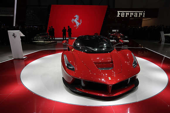 LaFerrari hybrid car at Geneva Car Show.