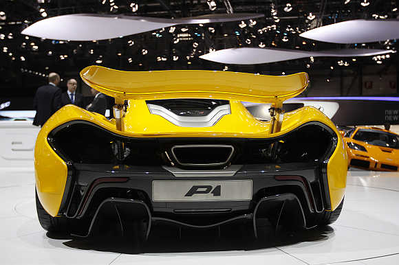McLaren P1 at Geneva Car Show.