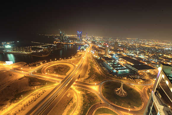 A view of Bahrain's capital Manama.